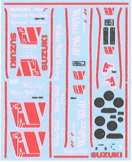 ミュージアムコレクション 1/12 スズキ RG250&400 γ ウォルターウルフ デカール ハセガワ対応 MC-D977