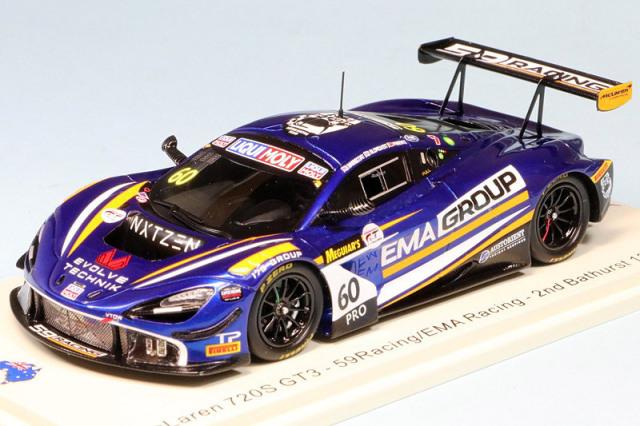 スパーク 1/43 マクラーレン 720S GT3 バサースト 12h 2020 2nd No.60 AS045