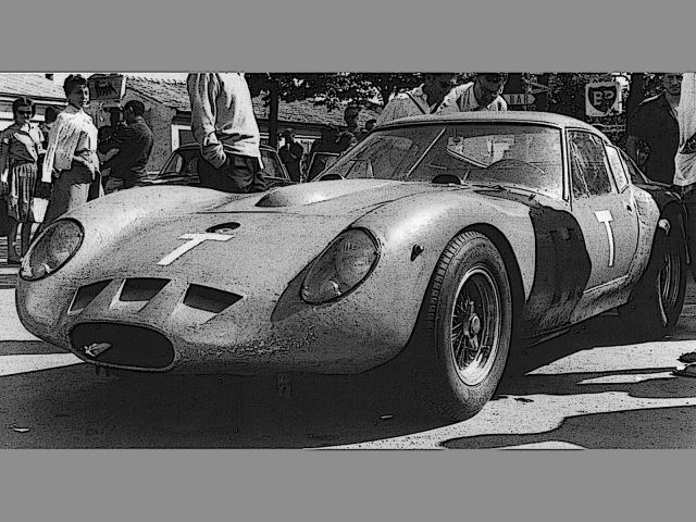 [予約] BBR 1/18 フェラーリ 250 GTO モンツァ テスト 1961 ウィリー・メレス/スターリング・モス ディスプレケース付き BBR1855