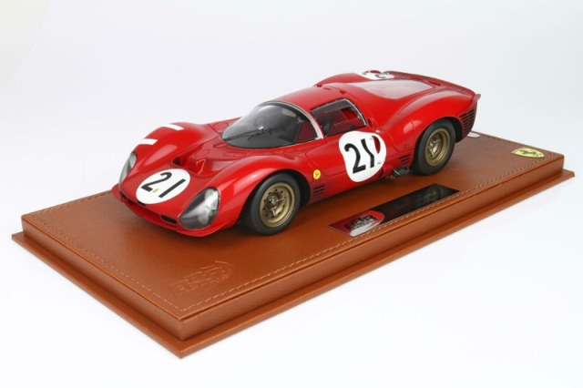 BBR 1/18 フェラーリ 330 P3 ルマン 1966 No.21 限定50台 ディスプレケース付き BBRC1835AER