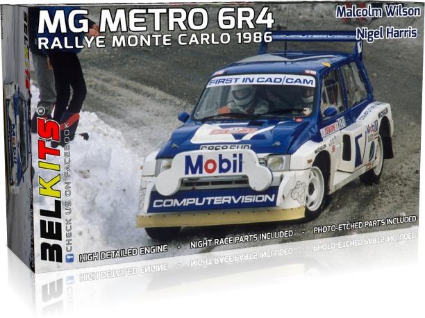 BELKITS 1/24 プラモデル MG メトロ 6R4 1986 モンテカルロ 1986 BEL015