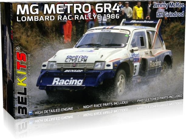 BELKITS 1/24 プラモデル MG メトロ 6R4 1986 ロンバルド RAC 1986 BEL016