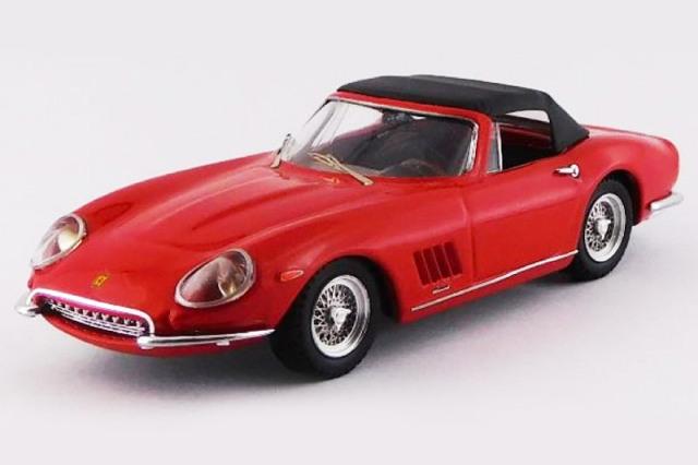 [予約] ベストモデル 1/43 フェラーリ 275 GTB/4 NART スパイダー 1967 ソフトトップ レッド BEST9781