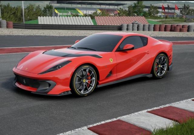 [予約] BBR 1/18 フェラーリ 812 コンペティチオーネ 2021 ロッソコルサ322 シルバーニュルホリゾンタルストライプ ディスプレイケース付き P18207B3