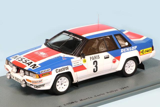 ビザール 1/43 ニッサン 240 RS モンテカルロラリー 1984 10th No.3 BZ333