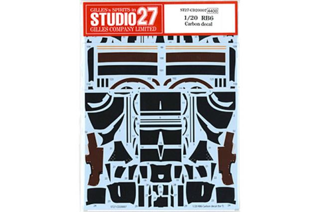 スタジオ27 1/20 レッドブル RB6 カーボンデカール (タミヤ対応) CD20007