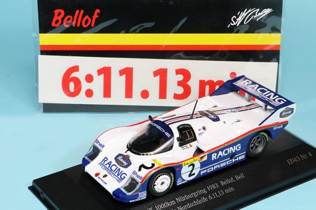 """取り寄せスパーク 1/43 ポルシェ 956K & ポルシェ 919 ハイブリッド """"ニュルブルクリンク コースレコード 1983-2018"""" 2台セット CK60853"""