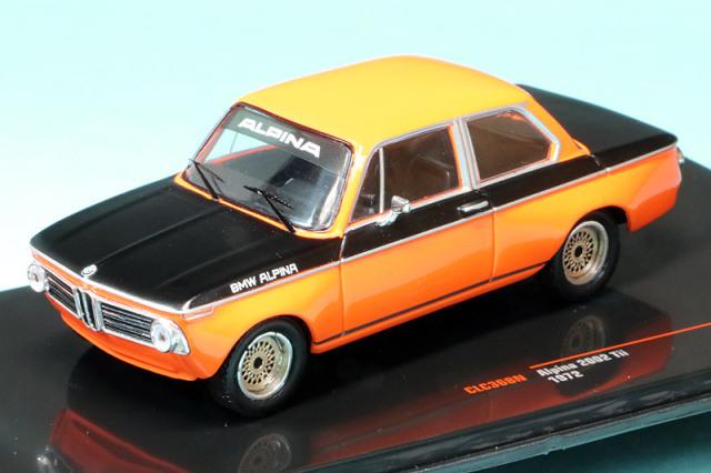 イクソ 1/43 アルピナ 2002 Tii 1972 ブラック/オレンジ CLC368N