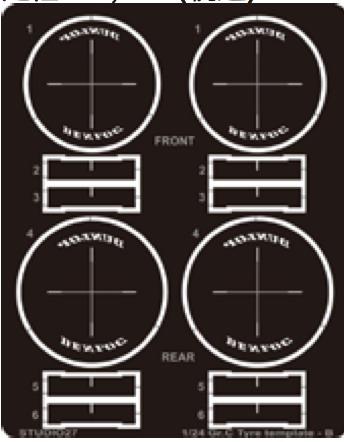[予約] スジタオ27 1/24 Gr.C タイヤテンプレート ~1989 ダンロップ FP24219 FP24219