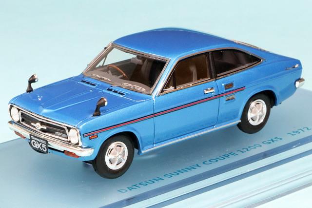 ENIF 1/43 ニッサン サニー 1200 GX5 クーペ 1972 ブルーメタリック ENIF0049