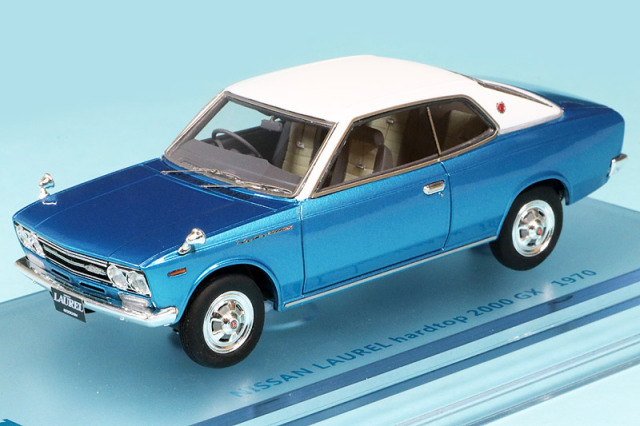 ENIF 1/43 ニッサン ローレル 2000GX 2ドア ハードトップ 1970 ヒロイックブルー/レザートップ ENIF0054