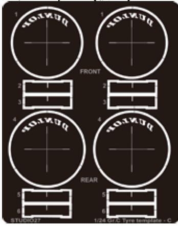 [予約]  スジタオ27 1/24 Gr.C タイヤテンプレート 1990~ ダンロップ FP24220 FP24220