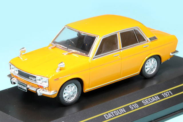 First43 1/43 ダットサン 510 セダン 1971 イエロー F43-136