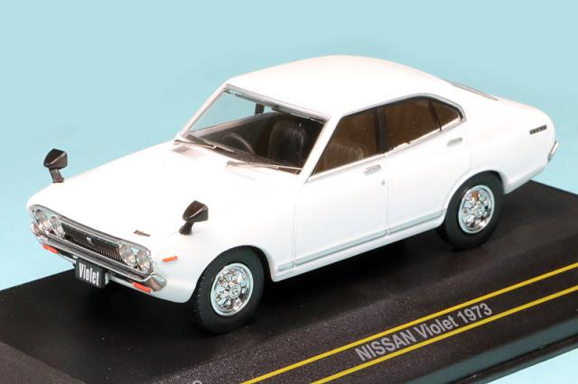 First43 1/43 ニッサン バイオレット 1973 ホワイト F43-142