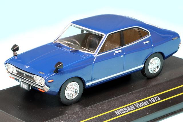 First43 1/43 ニッサン バイオレット 1973 ブルー F43-143