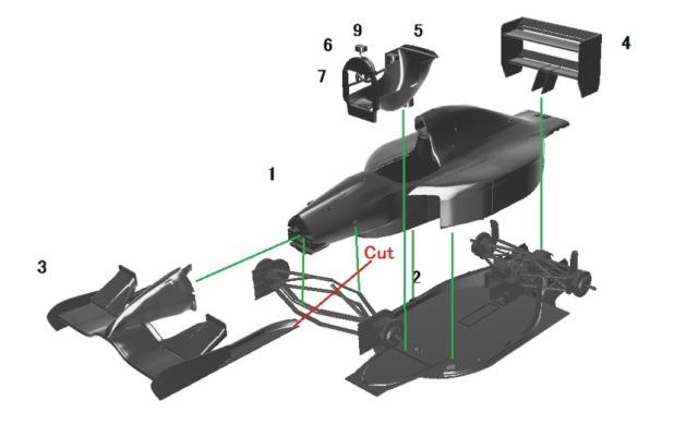 エレファントモデル 1/43 3Dプリントキット フォンドメタル GR2 1992 EM4301