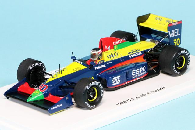 レーシングオン特注スパーク 1/43 ローラ LC89B ランボルギーニ アメリカGP 1990 鈴木亜久里 FS17