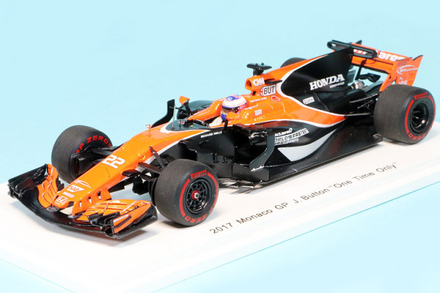 "F1速報特注スパーク 1/43 マクラーレン MCL32 ホンダ モナコGP 2017 J.バトン ""One Time Only"" FS21"