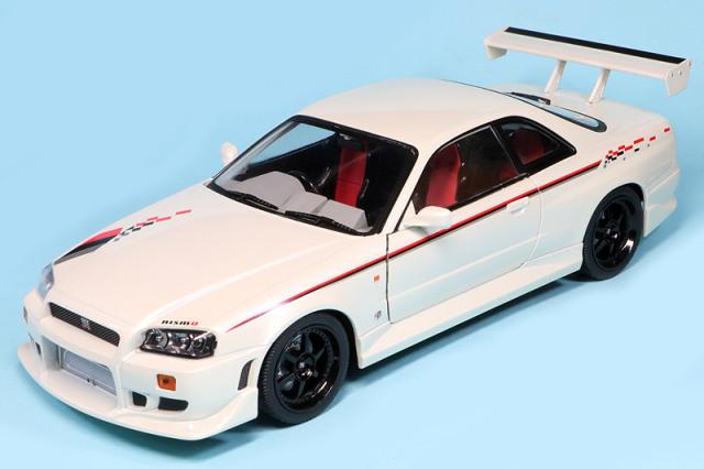 グリーンライト 1/18 ニッサン スカイライン GT-R R34 1999 パールホワイト GL19049