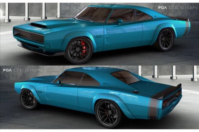 [予約] GT-SPIRIT 1/18 ダッジ スーパーチャージャー コンセプト ブルー GTS841