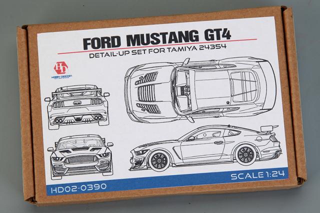 [予約] ホビーデザイン 1/24 フォード マスタング GT4 ディティールアップパーツ (タミヤ対応) HD02-0390