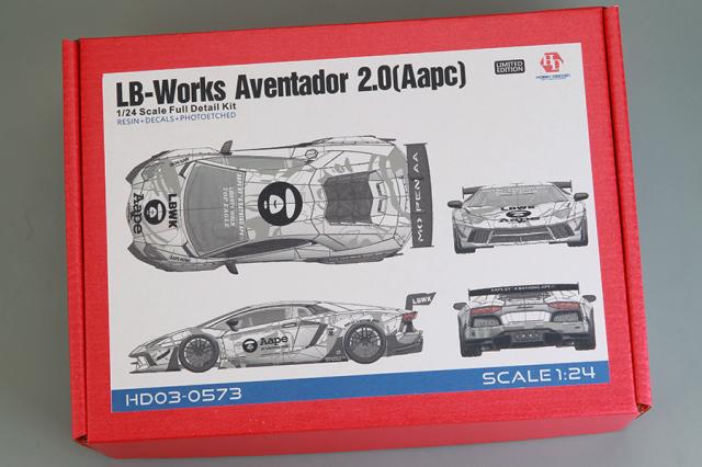 [予約] ホビーデザイン 1/24 レジンキット LB Performance アヴェンタドール 2.0 Aape HD03-0573