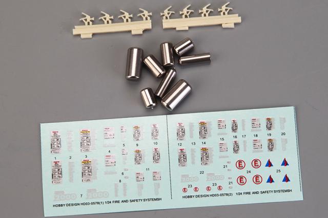 [予約] ホビーデザイン 1/24 消化器 等 セーフティシステム ディティールアップパーツ HD03-0578