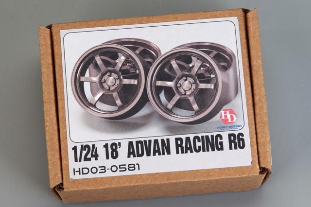 [予約] ホビーデザイン 1/24 18インチ アドバン レーシング R6 ホイールセット HD03-0581