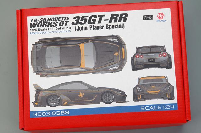 ホビーデザイン 1/24 レジンキット LB Performance ニッサン GT-RR R35 JPS (John Player Special) HD03-0588