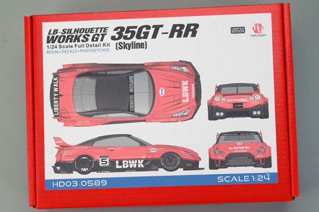 ホビーデザイン 1/24 レジンキット LB Performance ニッサン GT-RR R35 シルエットスカイライン HD03-0589