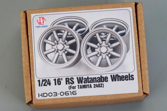 ホビーデザイン 1/24 16インチ RS ワタナベホイール HD03-0616