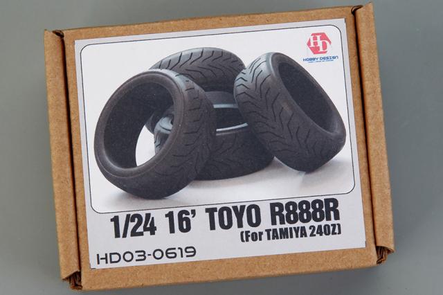 ホビーデザイン 1/24 16インチ トーヨー R888R タイヤ HD03-0619
