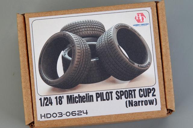 ホビーデザイン 1/24 18インチ ミシュラン パイロットスポーツカップ2 ナロータイヤ HD03-0624