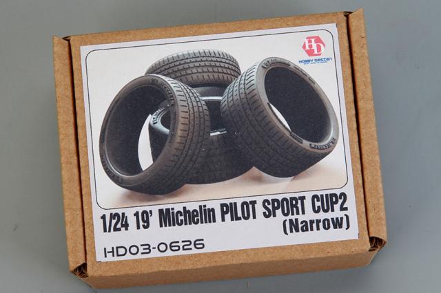 ホビーデザイン 1/24 19インチ ミシュラン パイロットスポーツカップ2 ナロータイヤ HD03-0626