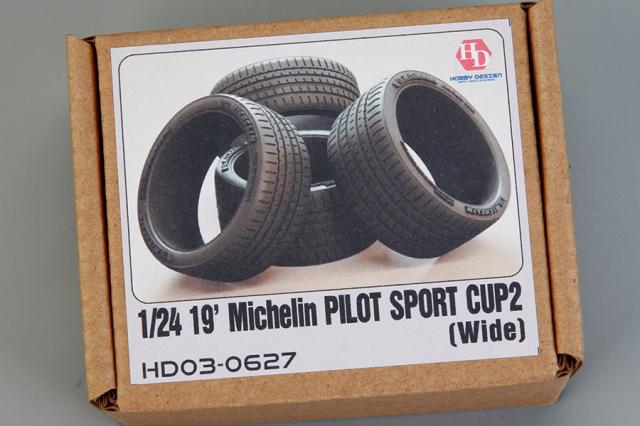 ホビーデザイン 1/24 19インチ ミシュラン パイロットスポーツカップ2 ワイドタイヤ HD03-0627