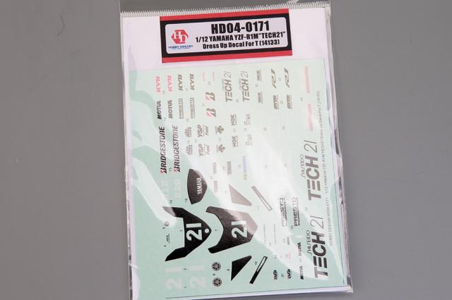 ホビーデザイン 1/12 ヤマハ YZF-R1M TECH21 鈴鹿8耐 2019 No.21 (タミヤ対応) HD04-0171