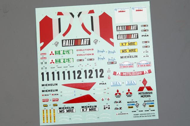 ホビーデザイン 1/24 ミツビシ ランサー Evo.3 ツール ド コルス 1995 HD04-0172