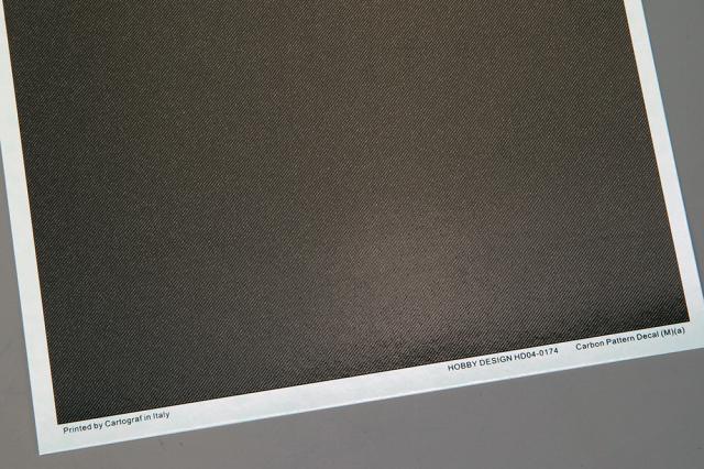 ホビーデザイン 1/24 カーボン デカール (M) A 1/20推奨 HD04-0174