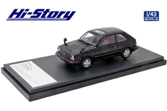 [予約] ハイストーリー 1/43 ホンダ シビック CX-S 1981 ブラック HS316BK