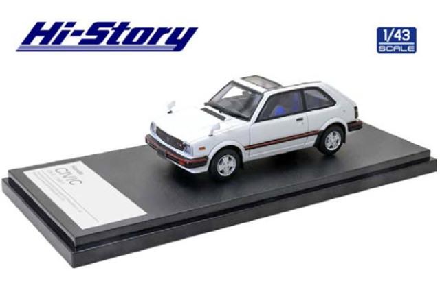 [予約] ハイストーリー 1/43 ホンダ シビック CX-S 1981 ホワイト HS316WH