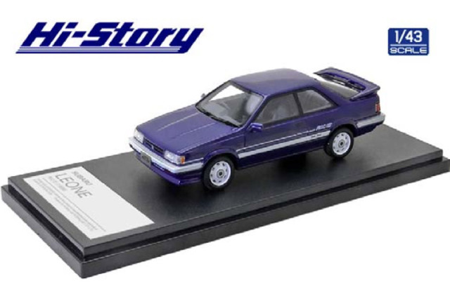 [予約] ハイストーリー 1/43 スバル レオーネ RX/II 1986 ブルー HS319BL