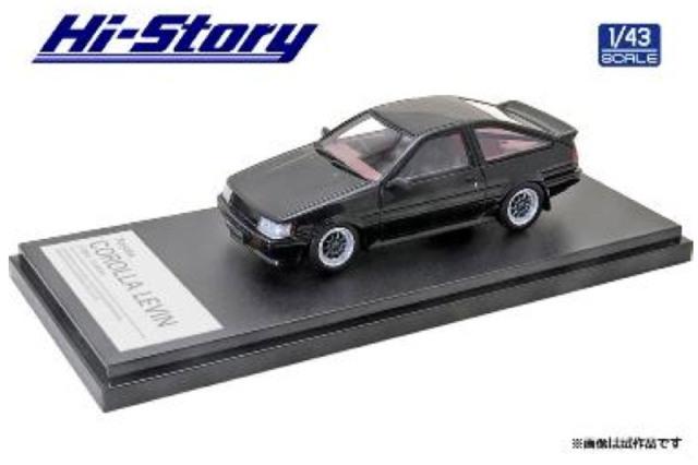 [予約] ハイストーリー 1/43 トヨタ カローラ レビン カスタマイズ 1983 ブラック HS354BK