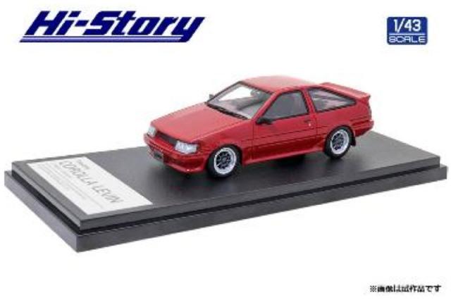 [予約] ハイストーリー 1/43 トヨタ カローラ レビン カスタマイズ 1983 レッド HS354RE