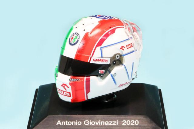 スパーク 1/8 ヘルメット A.ジョビナッツィ アルファ ロメオ 2020 HSP055