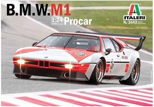 イタレリ 1/24 プラモデル BMW M1 プロカー 1979 日本語組み立て説明書付き 03643