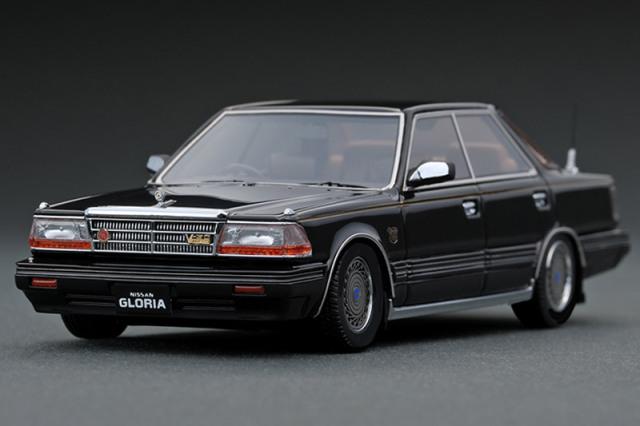 [取り寄せ] イグニッションモデル 1/43 ニッサン グロリア Y30 4ドア ハードトップ ブロアム VIP ブラック (ノーマルホイール) IG1420