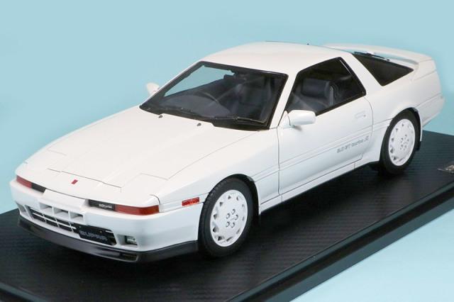 イグニッションモデル 1/18 トヨタ スープラ 3.0GT ターボ A MA70 パールホワイト IG1741