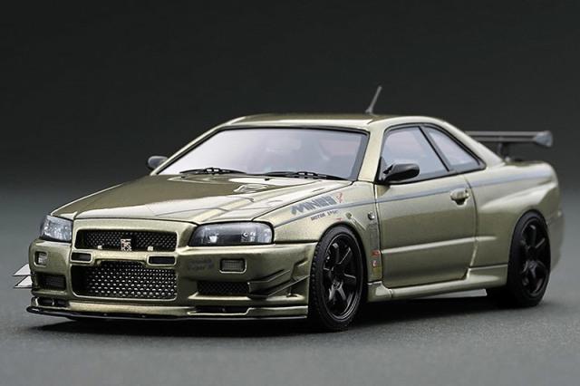 [取り寄せ] イグニッションモデル 1/43 ニッサン スカイライン GT-R マインズ R34 ミレニアムジェイド IG1813