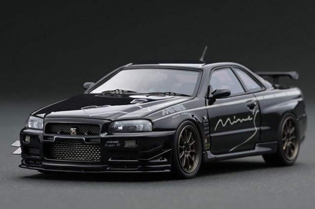 [取り寄せ] イグニッションモデル 1/43 ニッサン スカイライン GT-R マインズ R34 ブラック IG1815