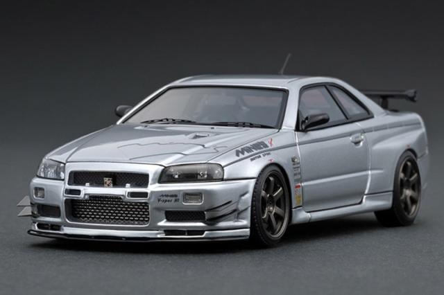 [取り寄せ] イグニッションモデル 1/43 ニッサン スカイライン GT-R マインズ R34 シルバー IG1816
